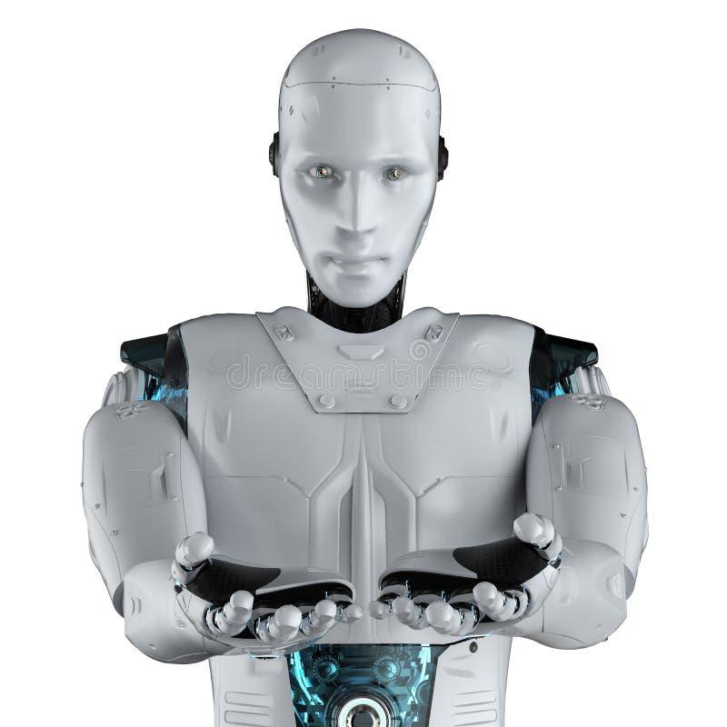 Main ouverte de robot illustration de vecteur