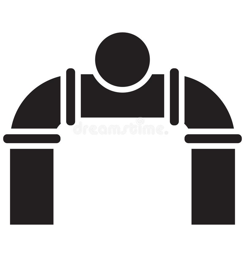 Main pipeline, pipe valve Isolated Vector Icon can be easily modified or edit.  vector illustration