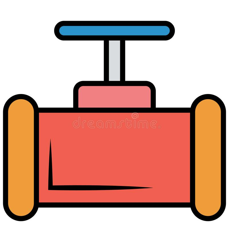 Main pipeline, pipe valve, Vector Icon can be easily modified or edit vector illustration