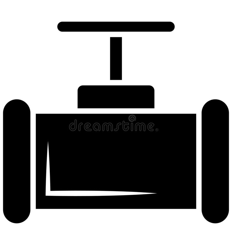 Main pipeline, pipe valve, Vector Icon can be easily modified or edit stock illustration