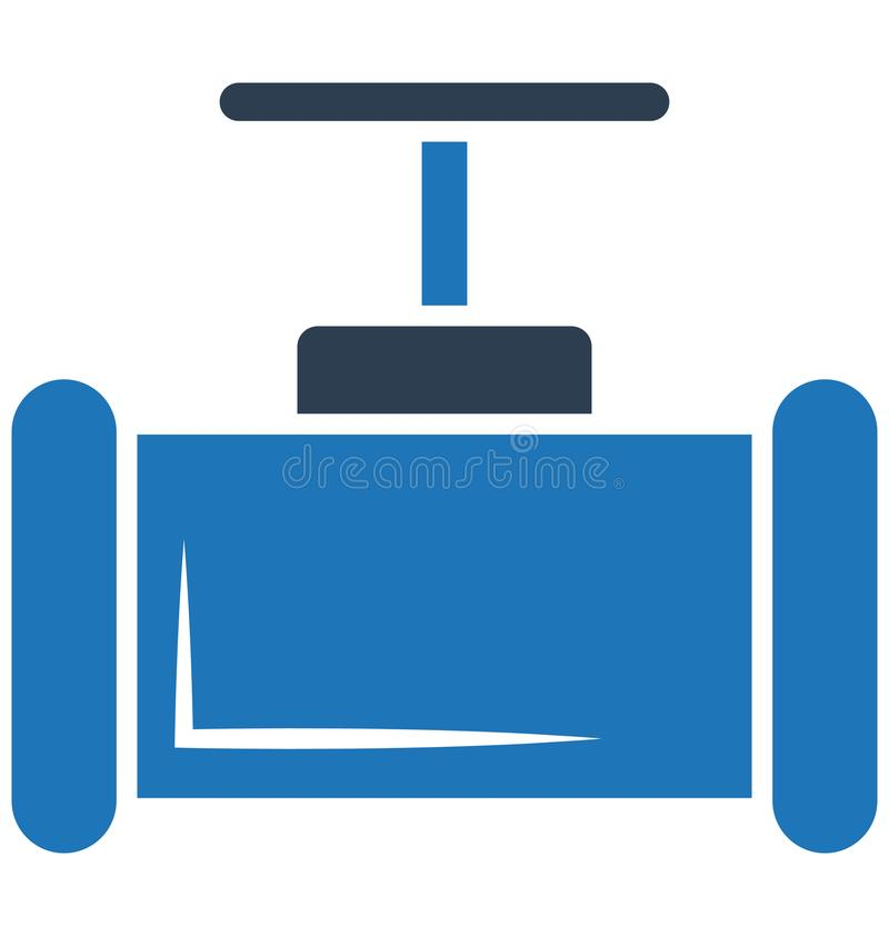 Main pipeline, pipe valve, Vector Icon can be easily modified or edit royalty free illustration