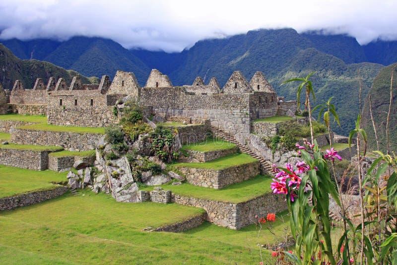 Main Plaza in Machu Picchu royalty free stock photos