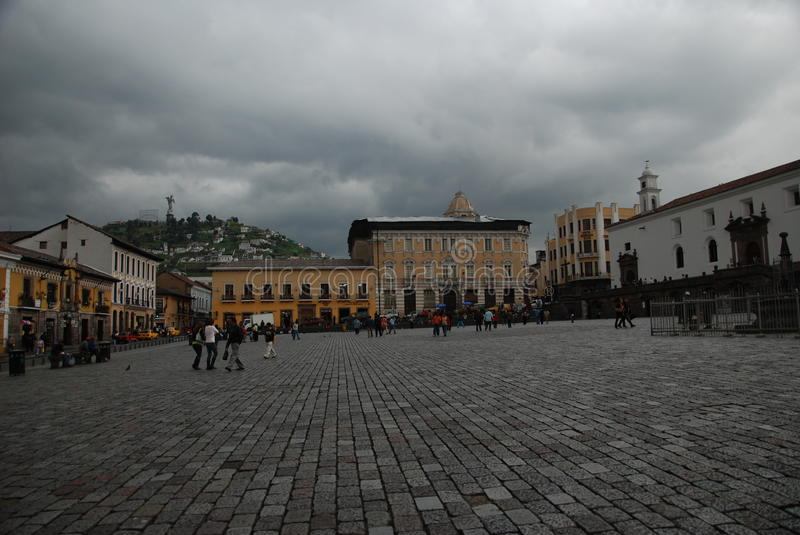 Plaza San Francisco in Quito royalty free stock photography