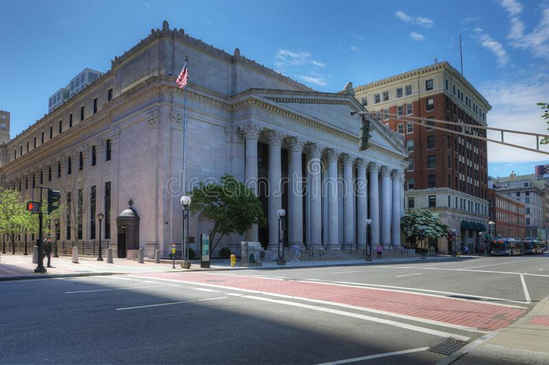 Main Postal Building in New Haven, Connecticut, United States. The Main Postal Building in New Haven, Connecticut, United States royalty free stock image