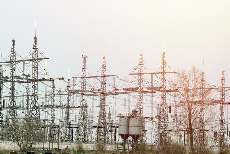 Main Power Plant Energy ideas And energy saving. royalty free stock photo