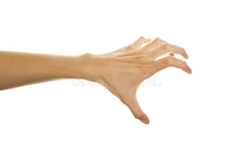 Main prête à rayer image libre de droits