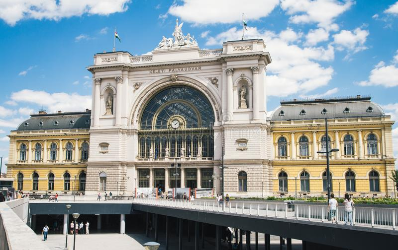 Main railway station building in Budapest, Hungary. Europe stock images