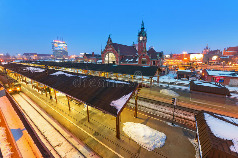 Download Main Railway Station In Gdansk, Poland Editorial Stock Image - Image: 38188624