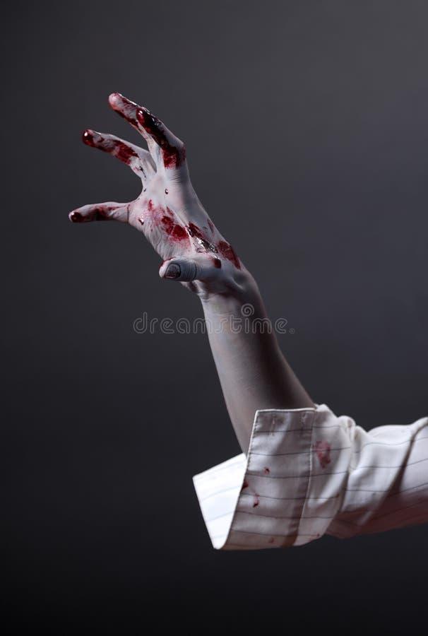 Main rampante de zombi, fuselage-art extrême photo stock