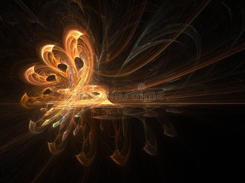 Main redoutable de flamme - art de l'incendie 3D illustration stock