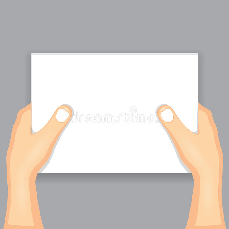 Main retenant le papier illustration stock