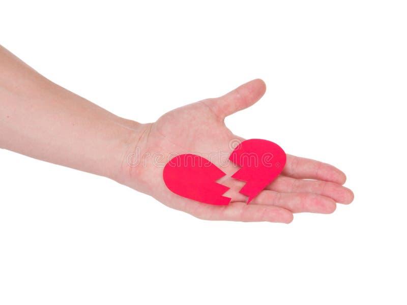 Main retenant un coeur rouge le concept de l'amour, du jour de valentines, du symbole et de romantique coeur rouge pour le cadeau photographie stock libre de droits