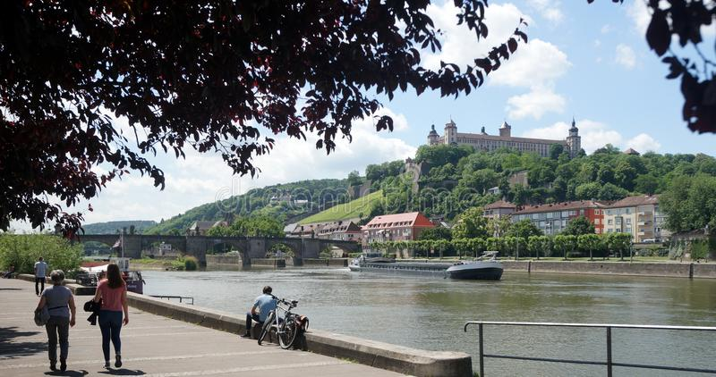 Wuerzburg on the Main River royalty free stock image