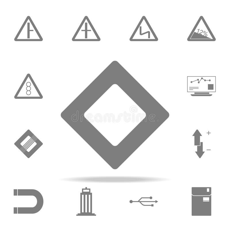 Main road sign icon. web icons universal set for web and mobile. On white background stock illustration