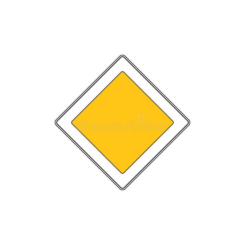 Main road sign. Main priority road. Vector road sign stock illustration