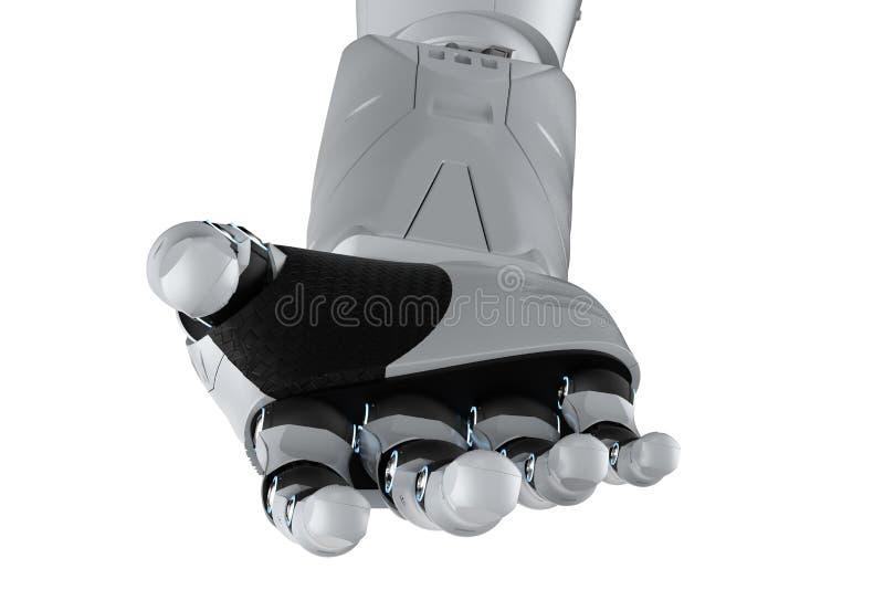 Main robotique d'isolement illustration stock