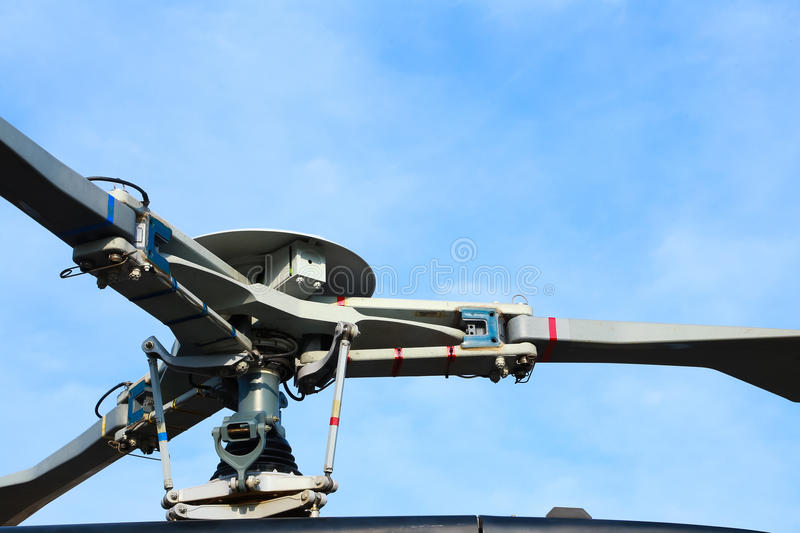 Main rotor hub of helicopter royalty free stock photography