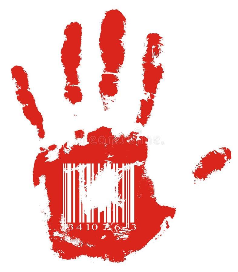 Main rouge illustration libre de droits