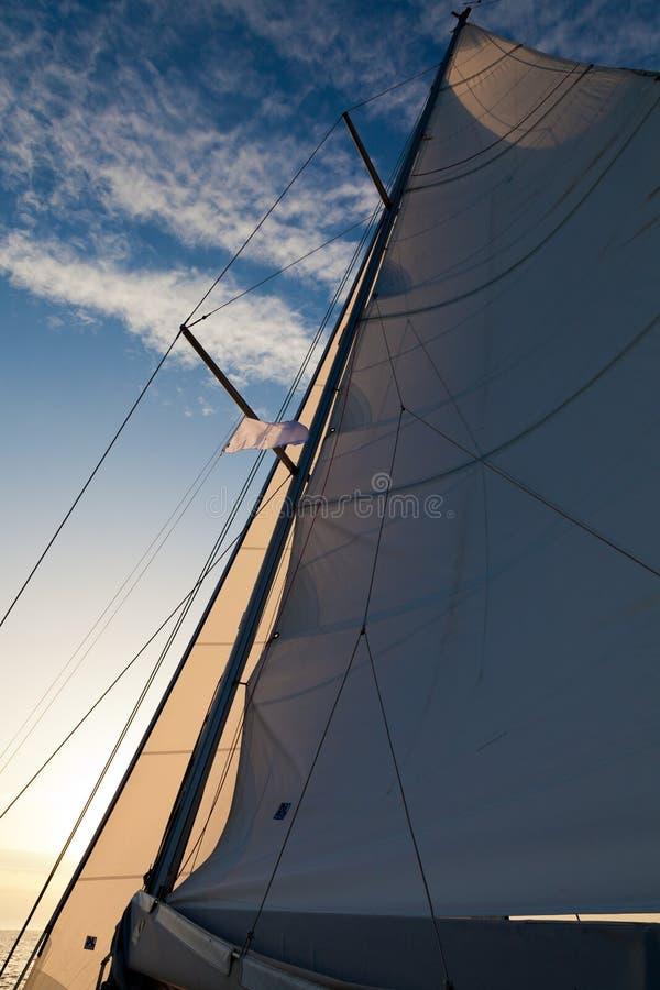 Main sail stock photography