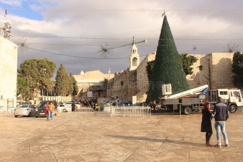 Main square in Bethlehem, Palestine royalty free stock image