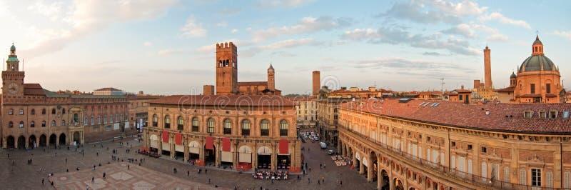 Main square - bologna. A panoramic view of main square - bologna, italy royalty free stock image