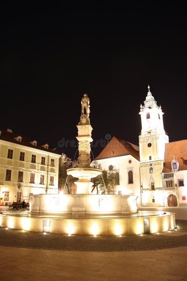 Main Square in Bratislava (Slovakia) at night