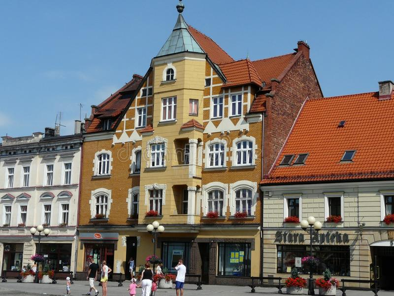 MIKOLOW SILESIA POLAND-The main square in the city center of Mikolow royalty free stock images