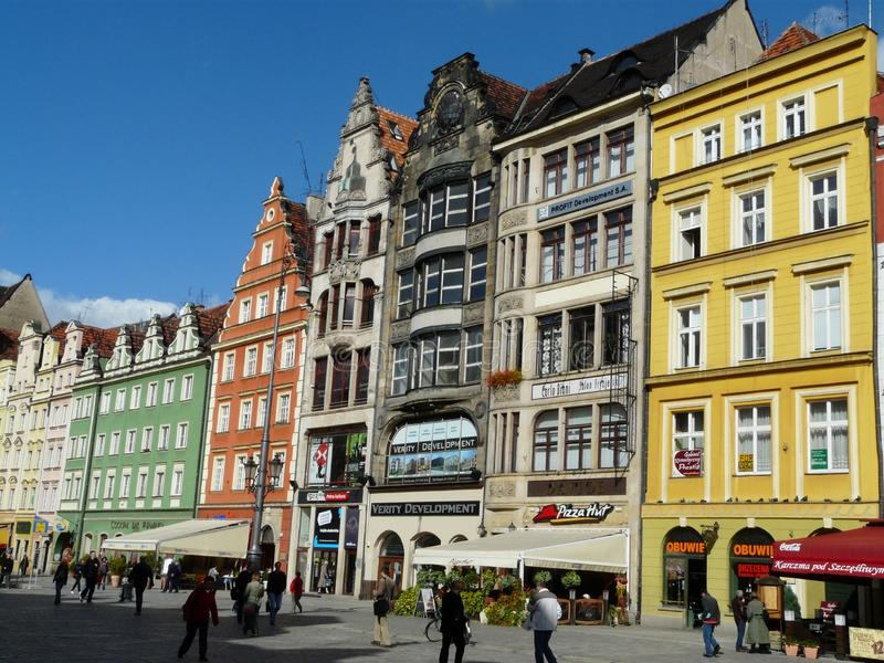 WROCLAW,SILESIA,POLAND-The main square in the city center of Wroclaw royalty free stock photos