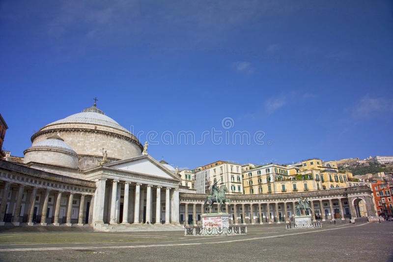 Main square of the City of Napoli, Naples, Italy. royalty free stock images