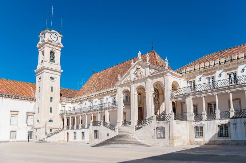 Main square of Coimbra University. Main square called Patio das Escolas of Coimbra University stock image