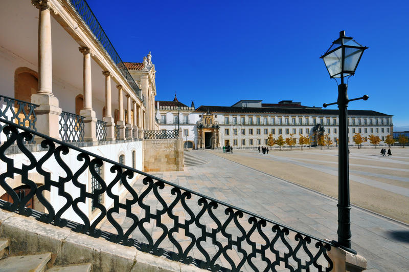 Main Square Of Coimbra University Royalty Free Stock Photo