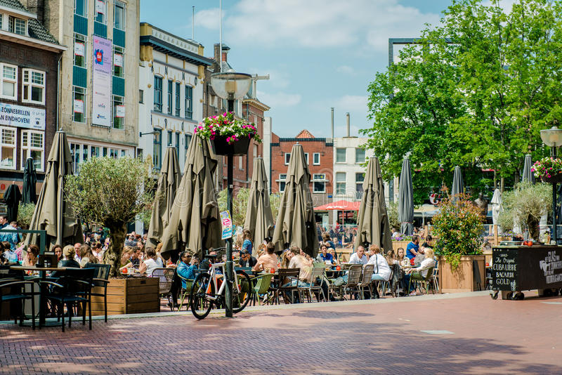 Main square of Eindhoven stock image