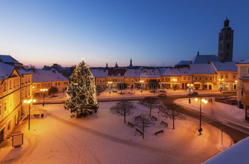 Main Square of Kutna Hora. Kutna Hora, Central Bohemian Region, Czech Republic stock photography