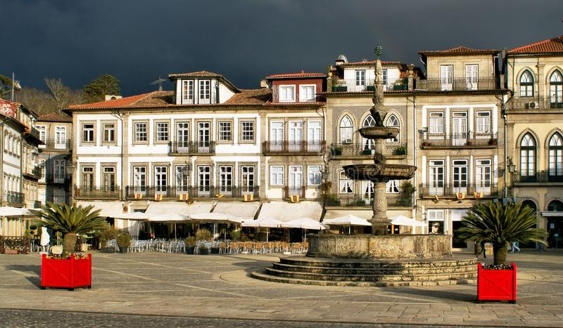 Main square Largo de Camoes royalty free stock photography