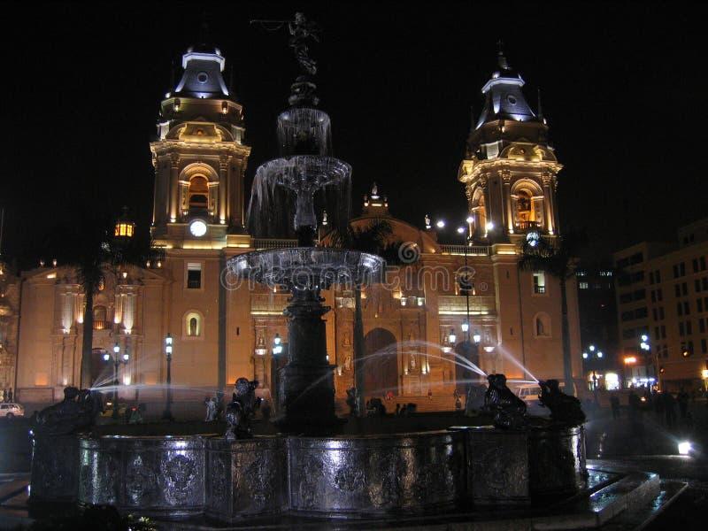 Main Square,Lima royalty free stock image