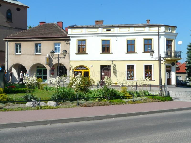 THE MAIN SQUARE IN NIEPOLOMICE -POLAND royalty free stock photo