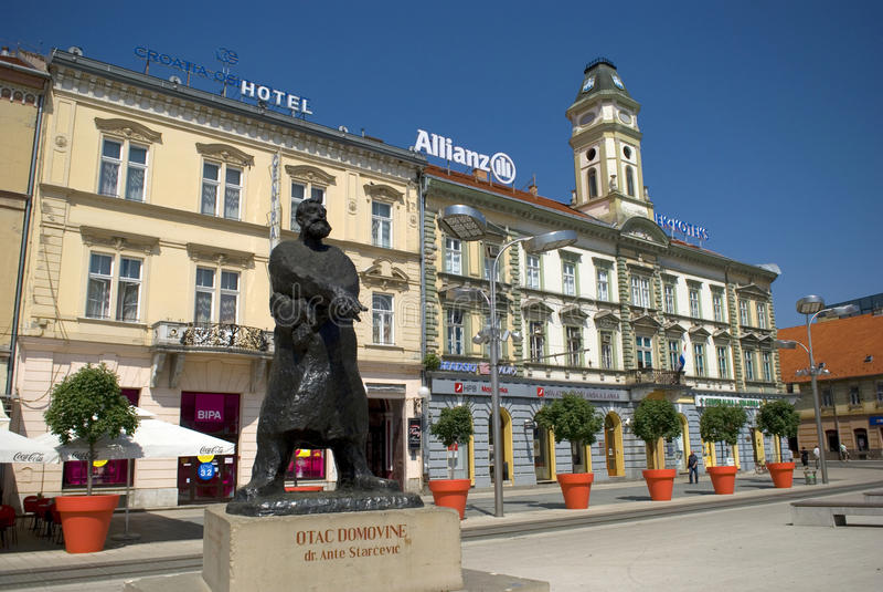 Main square, Osijek, Croatia royalty free stock photo