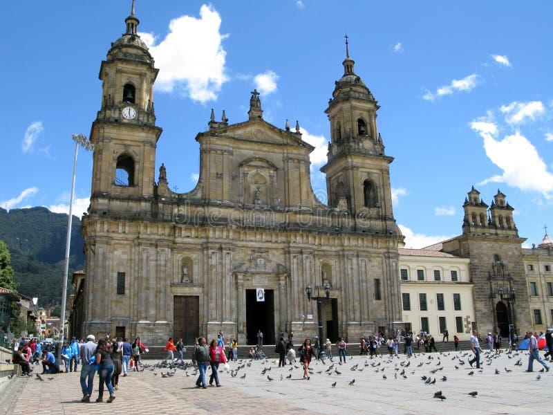 The main square Plaza Bolivar. stock images