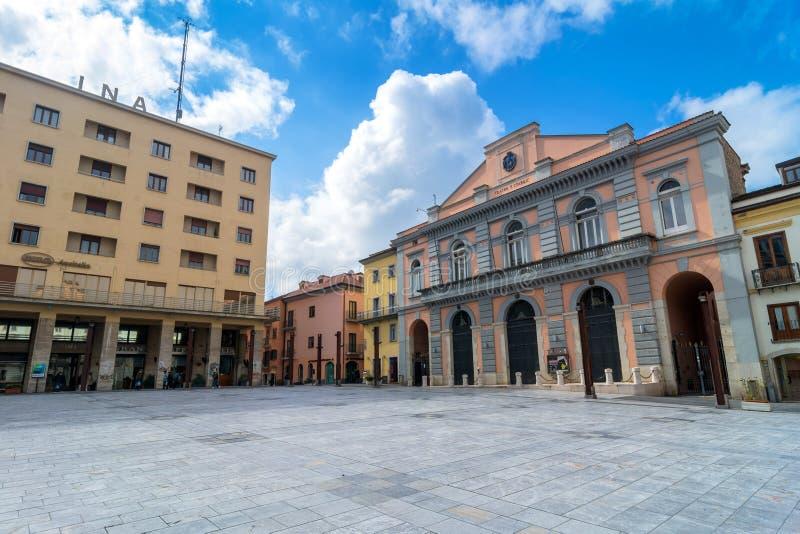 Main square in Potenza, Italy. POTENZA, ITALY - MARCH 13, 2015: day view of Mario Pagano square in Potenza, Italy. Potenza is the highest regional capital city stock photo
