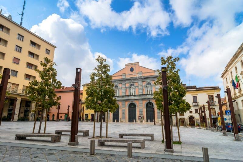 Main square in Potenza, Italy. POTENZA, ITALY - MARCH 13, 2015: day view of Mario Pagano square in Potenza, Italy. Potenza is the highest regional capital city stock images