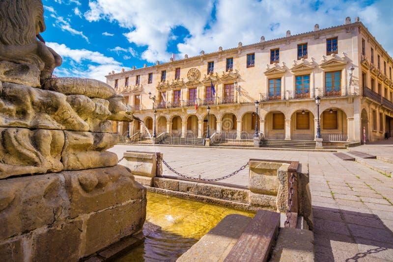 Main square in Soria stock image