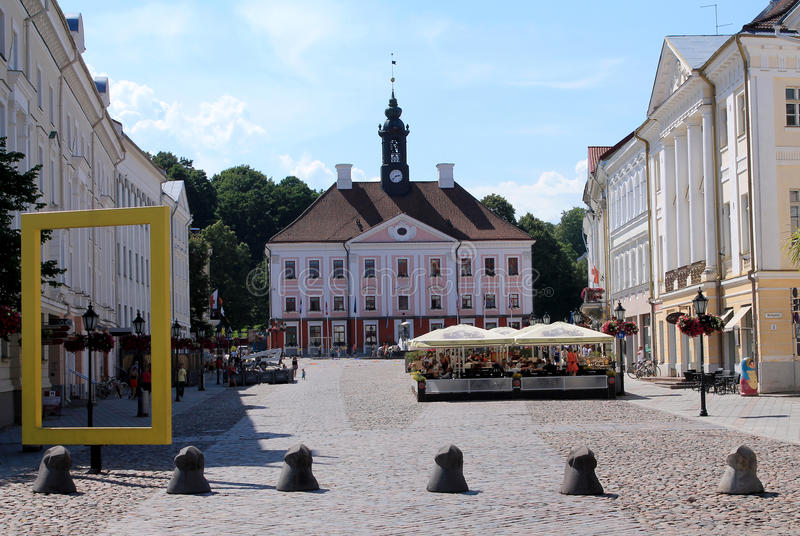 THE MAIN SQUARE IN TARTU stock photography