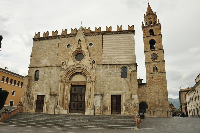 Teramo Catherdral. The main square in Teramo Italy is the place for the Teramo Cathedral.Come to the Abruzzo region of Italy and explore stock photos