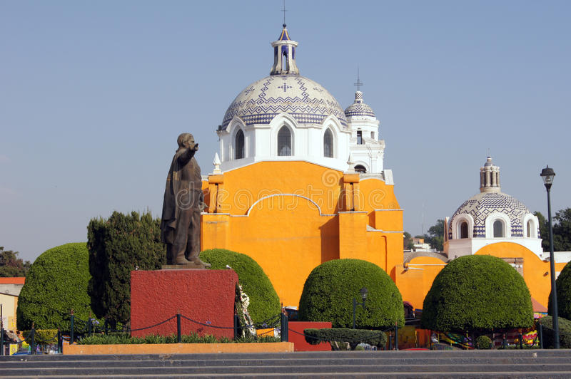 Main square in Tlaxcala royalty free stock photos