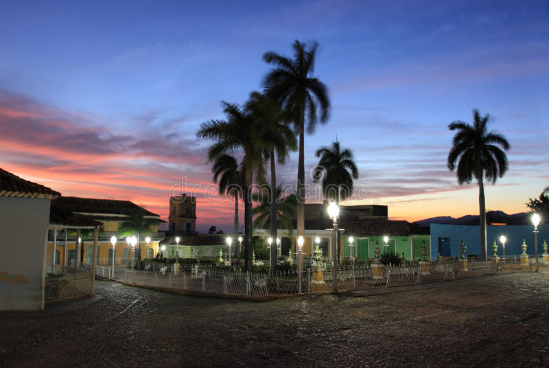 Main square in trinidad, cuba stock photography