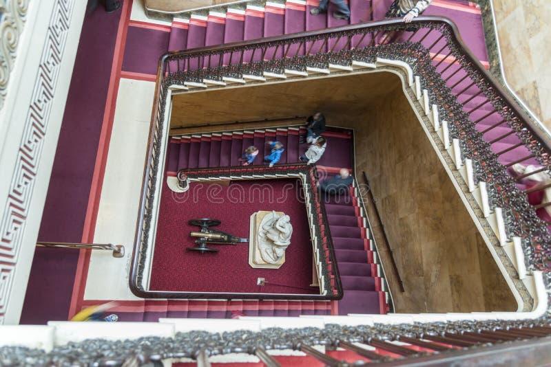 Main Staircase Osborne House Isle of Wight. stock image