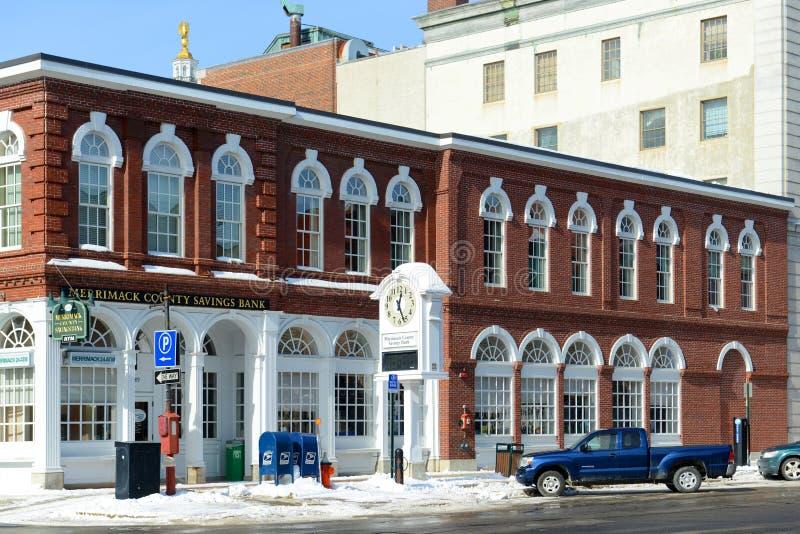 Main Street, accord, NH, Etats-Unis photos libres de droits