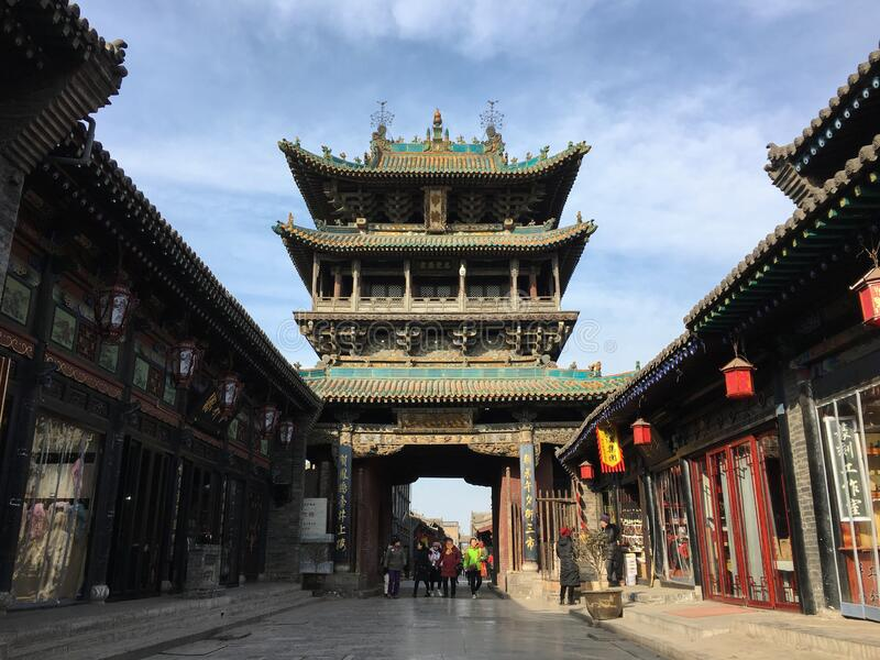 Ancient City of Pingyao, China. stock photos