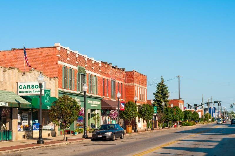 Main Street Bedford Ohio fotografía de archivo libre de regalías