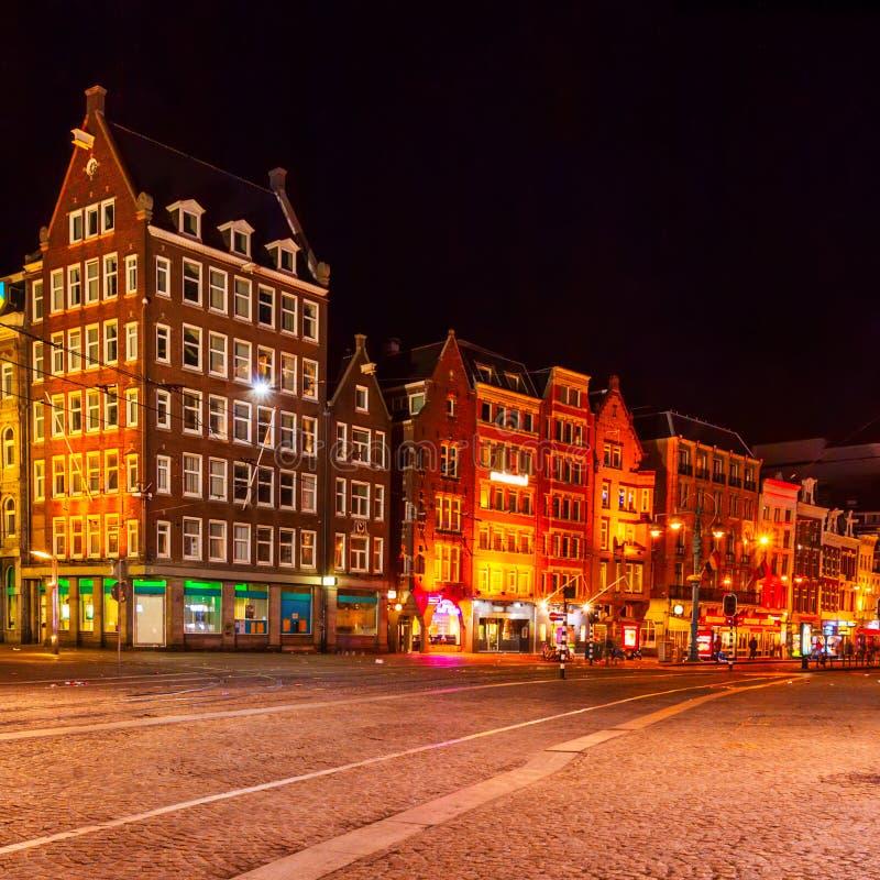 Main Street Damrak, Amsterdam stock image